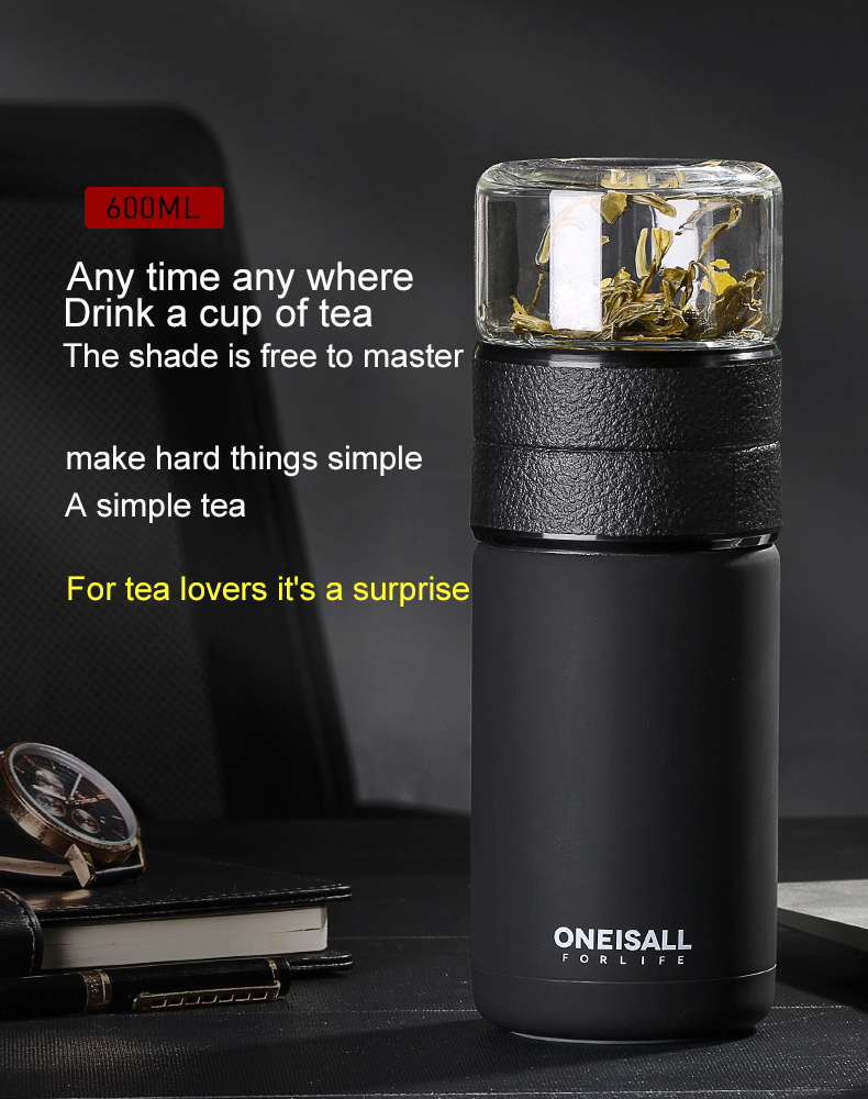 HTB1ww yNFzqK1RjSZFvq6AB7VXaB Thermos Bottle Stainless Steel Tea Partition Thermo Cup Glass Tea Strainer Thermos Mug Bottle Vacuum flask Bottles 400ml + 200ml