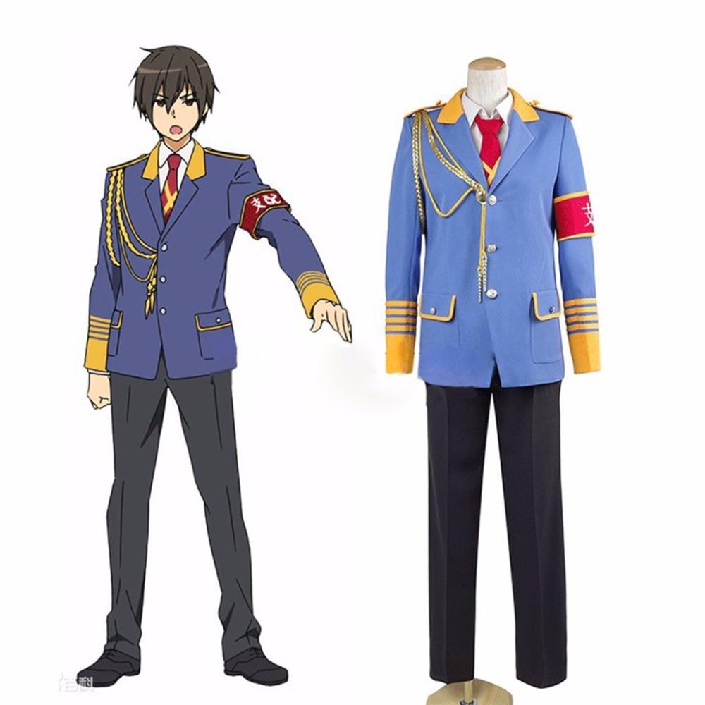 Custom Made Anime Amagi Brilliant Park Amagi Buririanto Paku Domination Seiya Kanie Cosplay Top Pants L0516