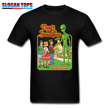 Stranger Things T Shirt Men Don't Talk to Strangers T-shirts Cotton UFO Alien Tshirt for Adult Tops Tees Fashion Gift Streetwear(China)