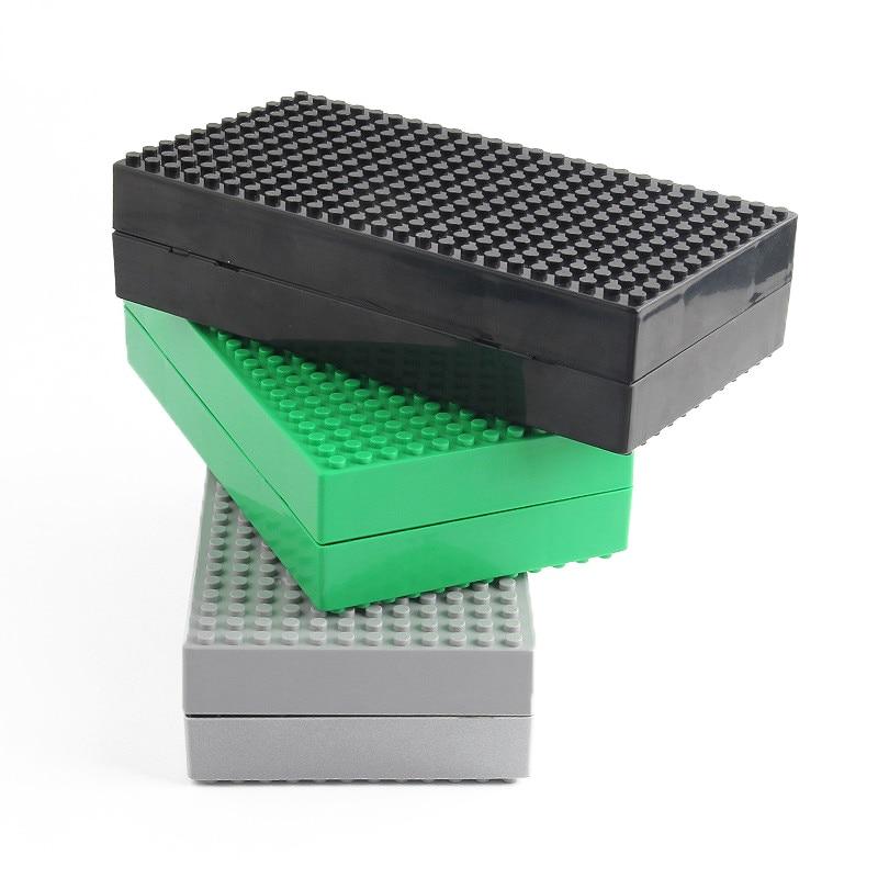 Multifunction DIY Creative Blocks Storage Box MOC Compatible lEgOe Small Dots batman Bricks blocks brinquedos toys for children