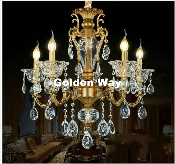 Antique bronze color crystal chandelier lingting luxurious brass antique bronze color crystal chandelier lingting luxurious brass crystal drop lamp lustre suspension e14 led light ac lighting in chandeliers from lights mozeypictures Gallery