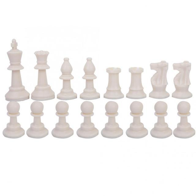 Ensemble d'échecs Portable en plastique voyage International échecs ultraléger jeu d'échecs avec grand sac en toile jeux d'échecs sac d'échecs 5
