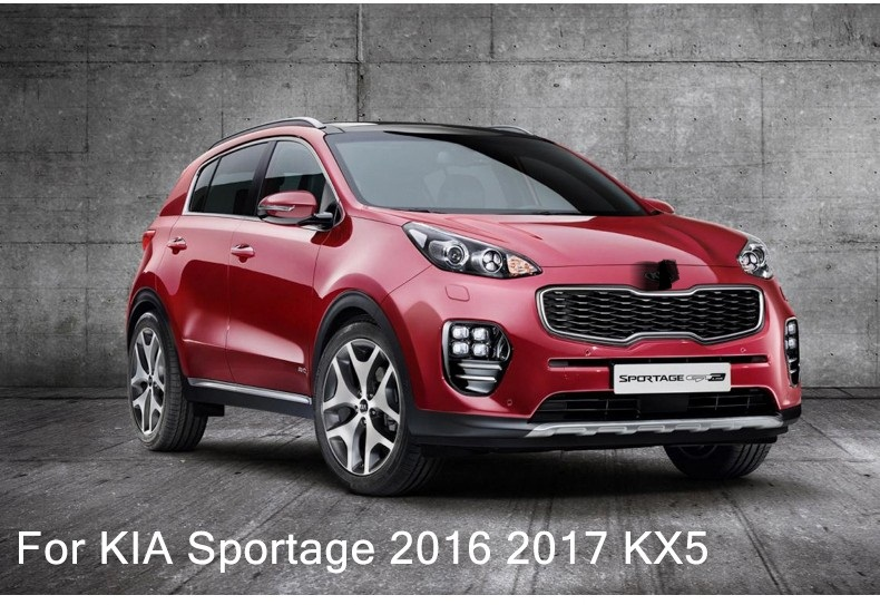car styling water cup holder frame decal cover trim cover 3D sticker for Kia Sportage 2016 2017 KX5 interior molding accessories