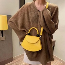 Fashion Smiley Women Purses Handbags 2019 New Girl's Yellow Shoulder Crossbody Bag Simple Ladies Hand Bags Small Totes Kabelky