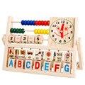 Crianças brinquedo Bebê Crianças Aprendendo Matemática Versátil Retalho Ábaco Brinquedos De Madeira brinquedos Educativos para Crianças