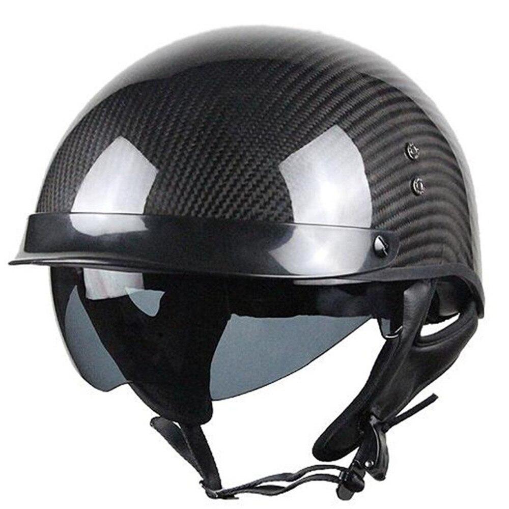 2018 casque de moto en Fiber de carbone intégral casque homme en fer DOT Certification de sécurité haute qualité noir coloré