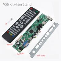 V56RUU-Z1 V56 Universel LCD LED TV Contrôleur Pilote Conseil + Chicane Fer Stand Support USB jouer multi-médias au lieu v29