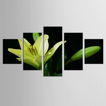 5 panel white lily mural art home decoration living room canvas printing modern painting XL-FJ319-1