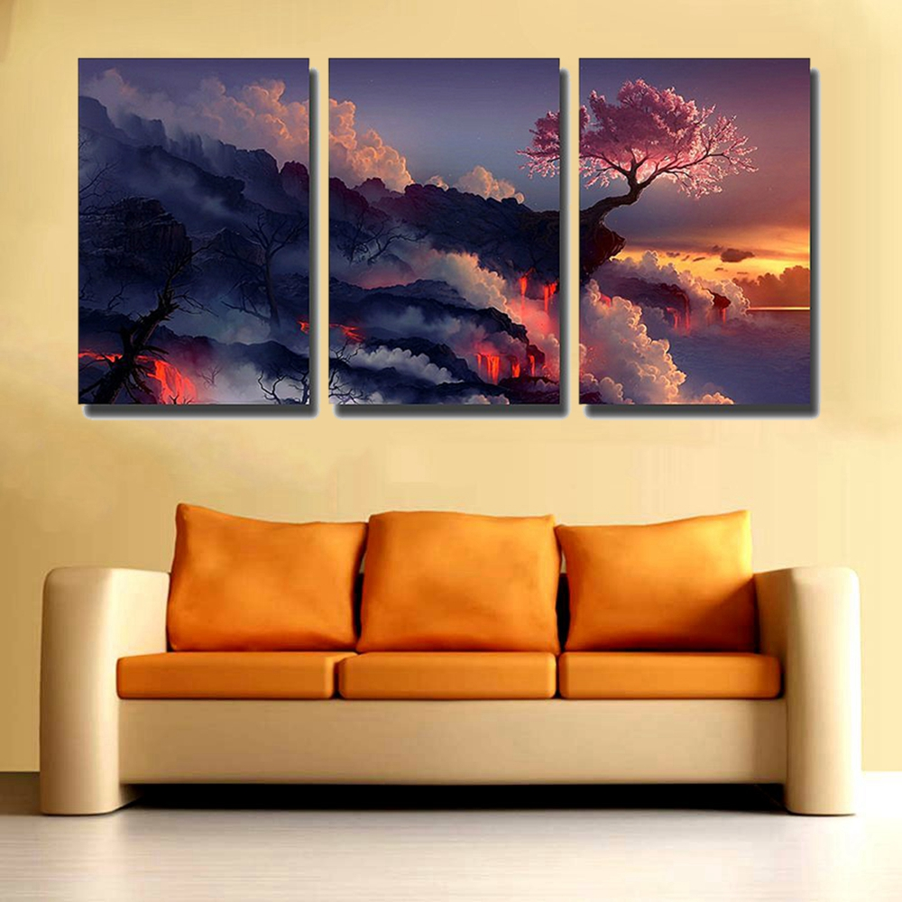 Gift Photo Magic Cherry Tree in Volcanoes Canvas Prints No Frame ...