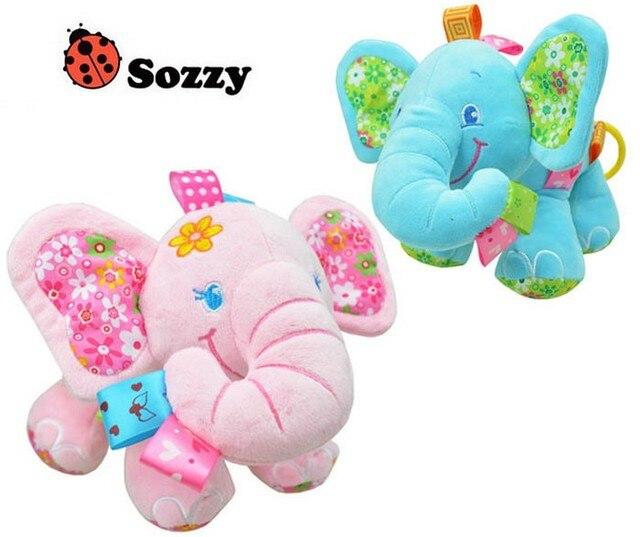 Кэндис го! симпатичные Sozzy любовь слон ребенка успокоить игрушка красоты слон тянуть музыка hed повесить подарок на день рождения 1 шт.