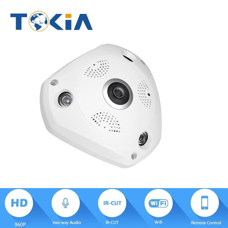 1.3MP 960P Wireless IP Wifi Camera 360degree panoramic view Wireless Home Security Alarm System Surveillance cameras with wifi foscam fi9826p wireless ip camera home security alarm 1 3mp 960p