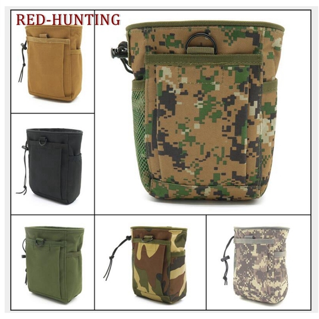 bc06c9ae532e US $7.09 29% OFF|Tactical Molle drawstring Magazine Dump Pouch Military  Adjustable Belt Utility fanny hip holster Bag Outdoor Ammo Pouch-in Pouches  ...