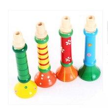Детские Дети Деревянный Музыкальный Инструмент Труба Гудок Горн Suona Развивающие Игрушки