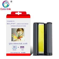 ColorInk 5 zestaw atramentu kartridż do canona Selphy serii CP papier fotograficzny drukarki CP800 CP810 CP820 CP900 CP910 CP1200 CP1300 drukarki