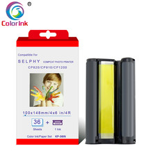 цена на ColorInk Ink Cartridge KP-36IN for Canon Selphy CP Series Photo Printer CP800 CP810 CP820 CP900 CP910 CP1200 CP1300 printer