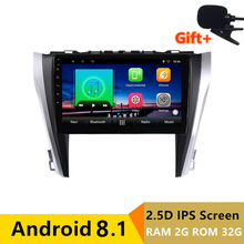 10 «2 + 32 г 2.5D ips Android 8,1 автомобильный DVD мультимедийный плеер gps для Toyota camry 2015 2016 2017 аудио автомобиля Радио стерео навигации