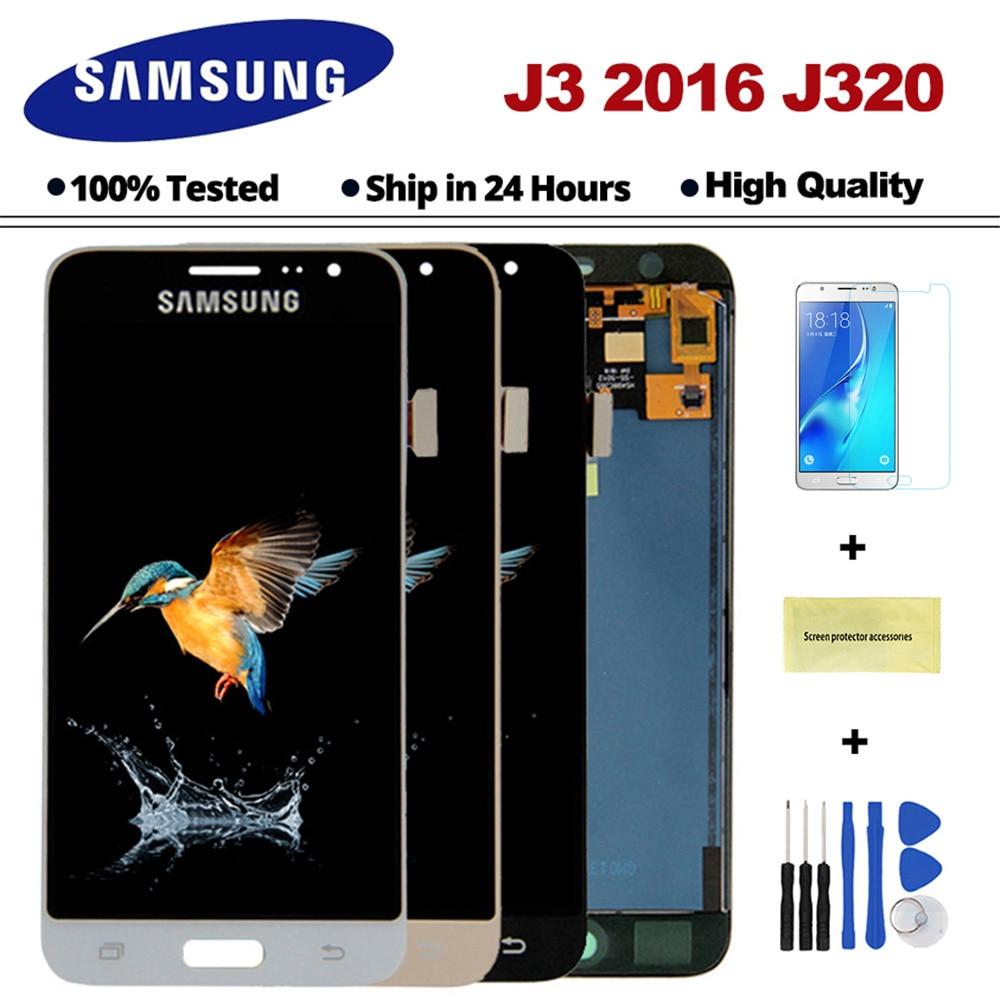 J320F LCD Für Samsung Galaxy J3 2016 J320 LCD J320A J320FN J320M LCD Display Mit Touch Screen Digitizer Montage Freies verschiffen