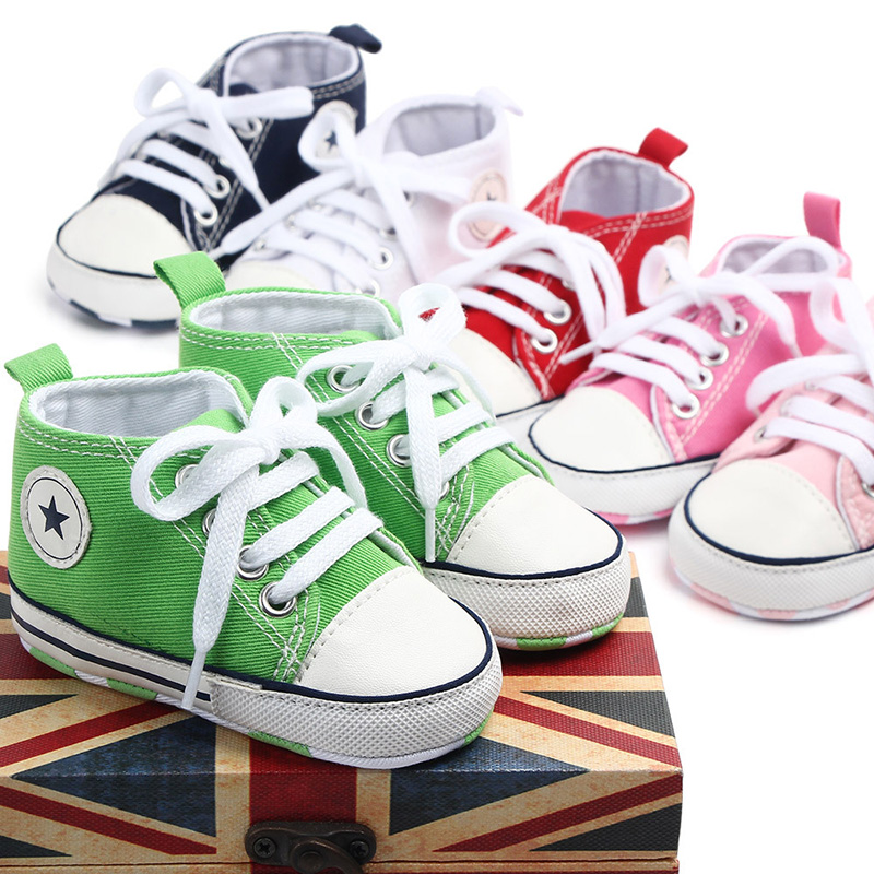 Baby Canvas Shoes 0-24M Toddler Baby Girl Shoes Cotton Soft Sole Baby Shoes Boy Newborn Baby Moccasins Infant Sneakers