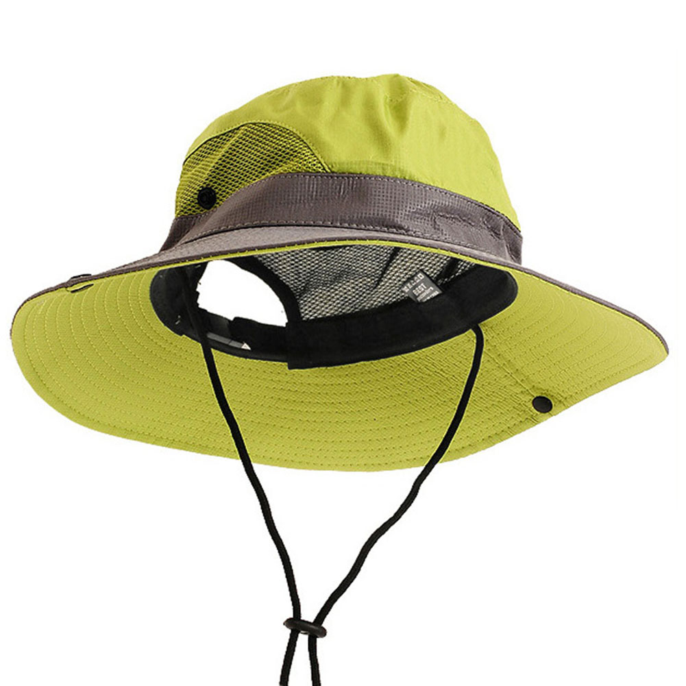 Polyester Fishing Bucket Hat Outdoor Activities Adjustable Travel Mesh Men Women Climbing Breathable Casual Cap Camping Summer