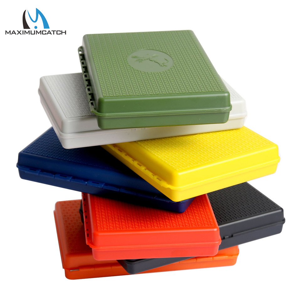 Maximumcatch 7 Colors For Choose 156*108*28mm Slim Pocket Plastic Wateproof Fly Fishing Box Jig Fishing Box maximumcatch slim fly box silicone insert 100