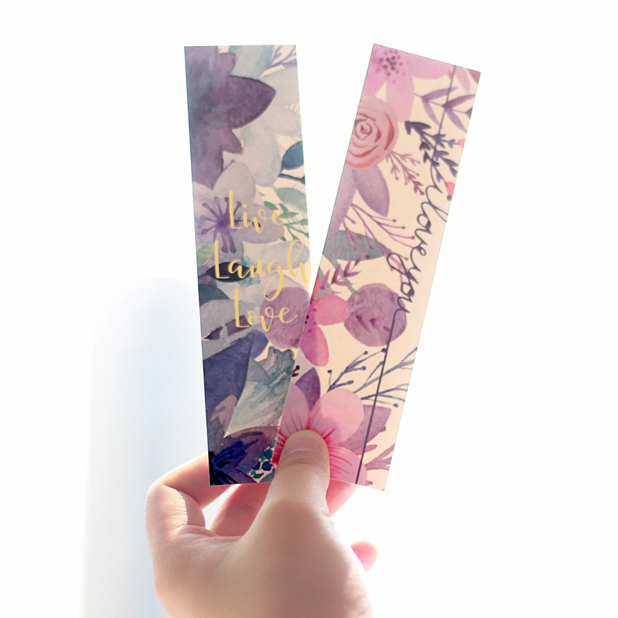 30 Pcs Poem Bookmark Set Vintage Flower Memo Card Book Page Holder Marker Accessories Stationery Office School Supplies F476