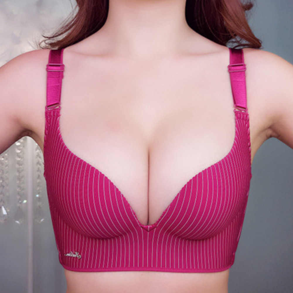 Women Bra Seamless Sexy Super Gather Un-wire Ladies Lingerie Push Up Bras  Padded Plus 1ab8a59a7a4