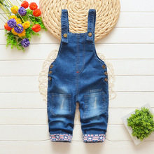 DIIMUU Kids Baby Boy Girls Overalls Toddler Clothing Jeans Pants Denim Cotton Casual Holiday Party Trousers  Suspender Pants недорого