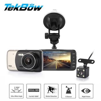Tekbow Car DVR Video Recorder Registrar Camera FHD 1080P Dashcam for Cars Night Vision G-Sensor Dash Cam Dual Lens Two cam caterham 7 csr