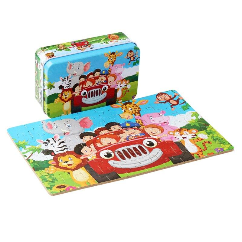 30 cm bébé jouets Montessori en bois Puzzle/main saisir conseil ensemble éducatif en bois jouet bande dessinée véhicule/Animal marin Puzzle enfant