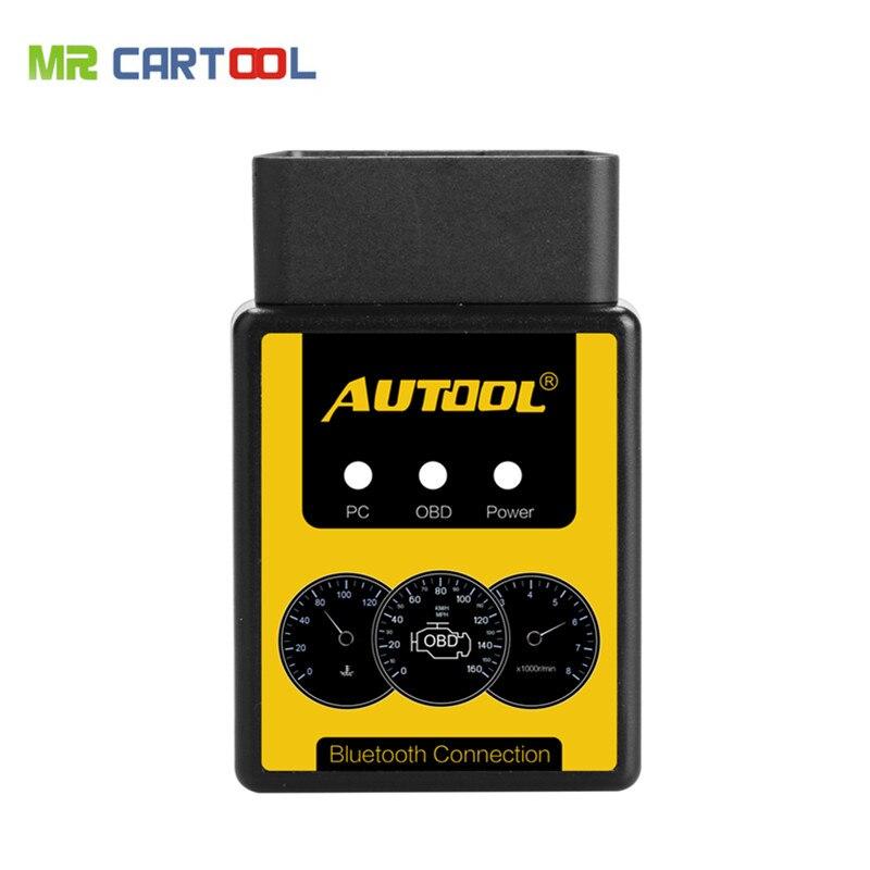 AUTOOL A1 OBD2 Scanner V1.5 Bluetooth/WIFI V1.5 Supports All OBDII Protocols Better Than ELM327 OBD II Diagnostic tool