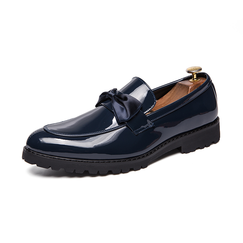 formal men leather shoes male trend Bow slip on footwear cool italian luxury brand wedding dress moccasins oxford shoes for men (4)