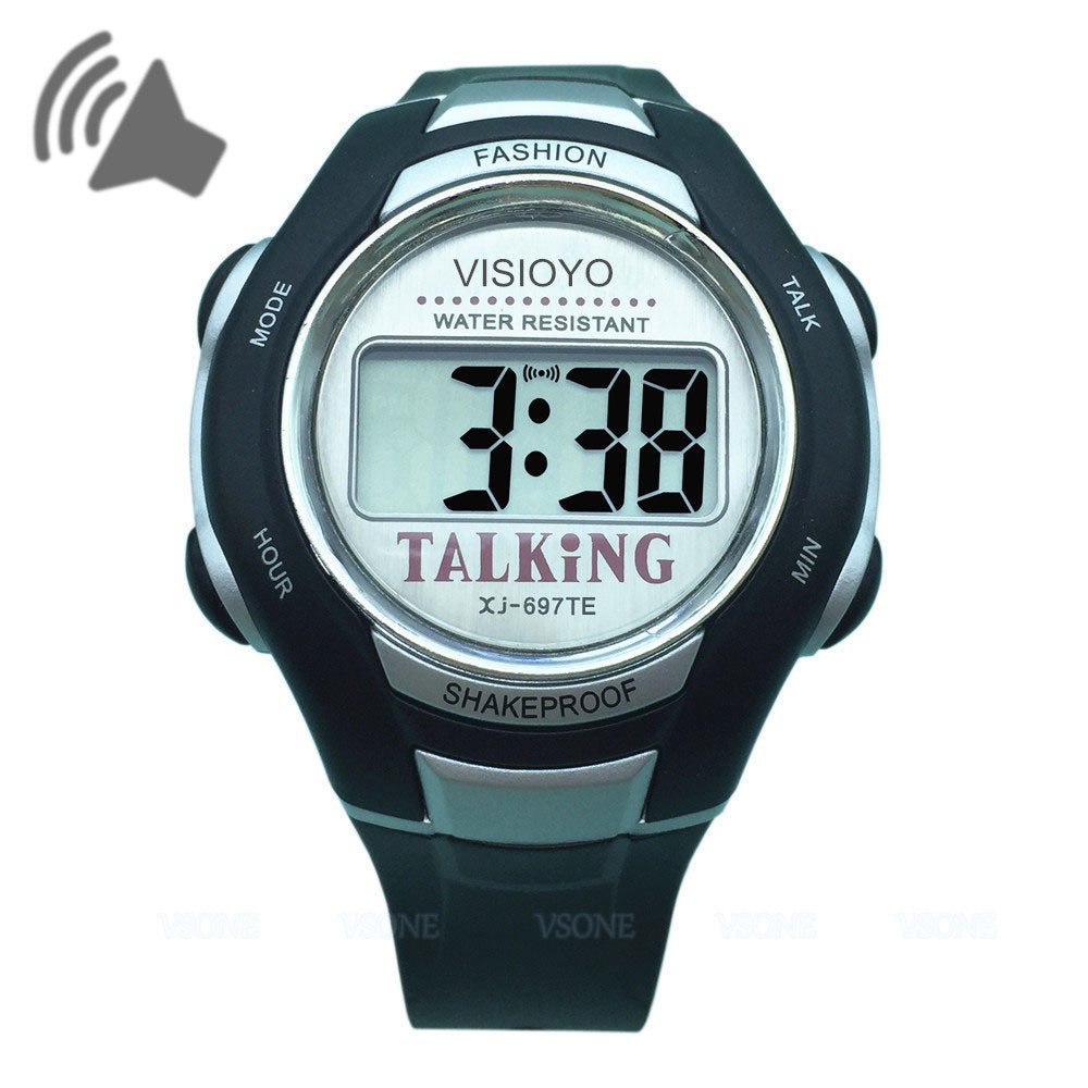 VISIOYO Digital English Talking Wristwatch with Alarm Clock Sports  Style|wristwatch with alarm|wristwatch digitalwristwatch sport - AliExpress