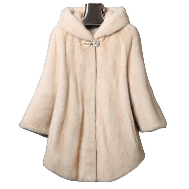 2017 new winter imitation fur fur female hat mink long mink coat mink coat