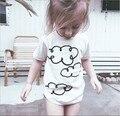 Ins ropa de la camiseta del BEBÉ ROPA de BEBÉ ROPA de LA MUCHACHA NIÑOS NUBES BOBO CHOSES KIKIKIDS VETEMENT ENFANT