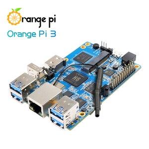 Image 4 - Orange Pi 3 Set1: OPI 3 + Netzteil, h6 1 GB LPDDR3 + 8 GB EMMC Flash Gigabyte AP6256 BT5.0 Unterstützung Android 7.0, Ubuntu, Debian