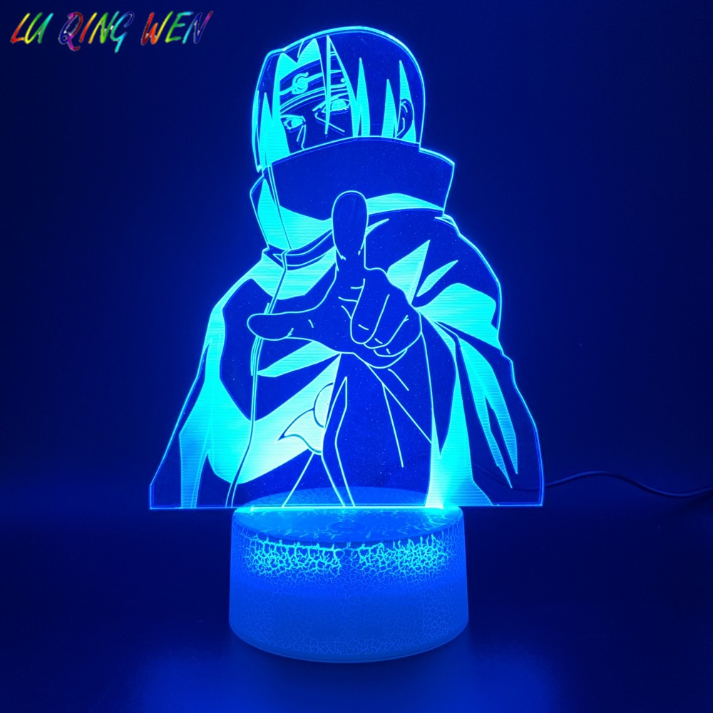 3d Led Night Light Lamp Naruto Anime Itachi Uchiha Figure Japanese Manga Home Decoration Birthday Gift For Child Kids Bedroom