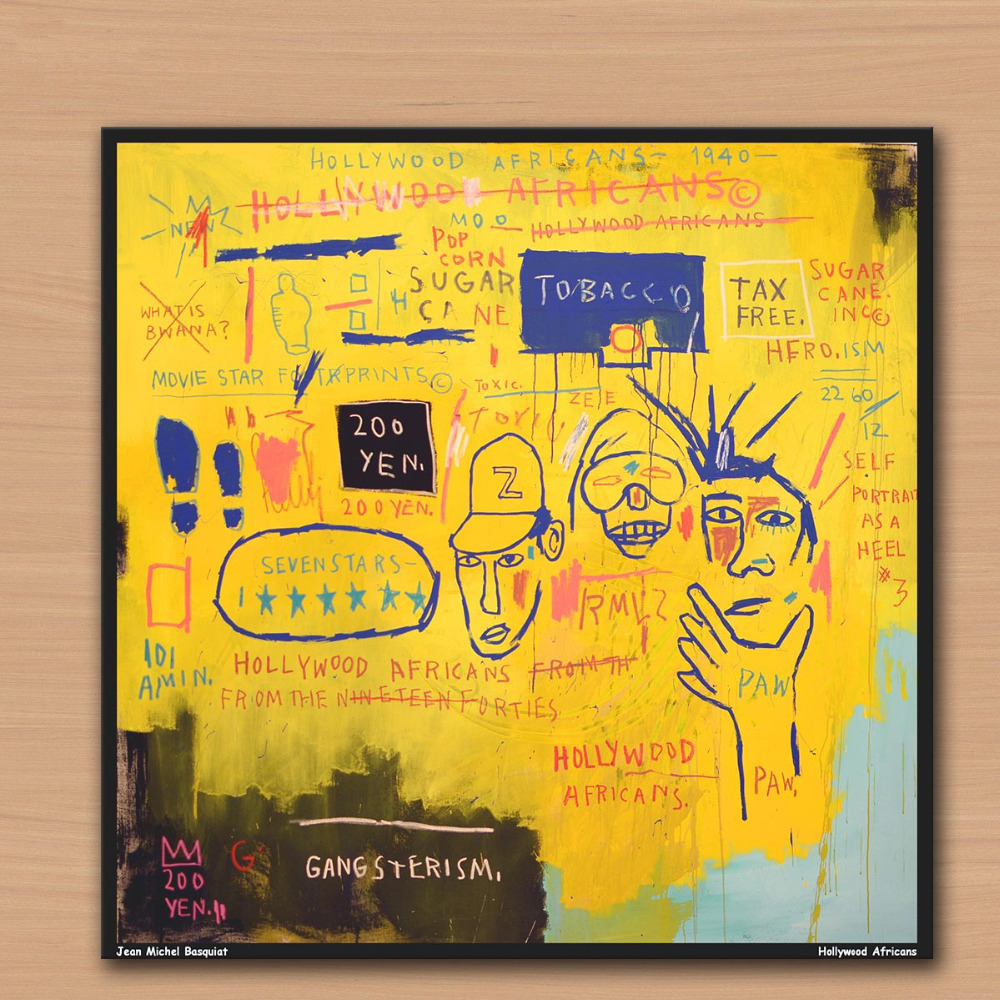 Contemporary art Hollywood Africans 1983 by Jean Michel basquiat Home Decorative Wall Art Picture For Living Room painting