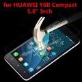 0.26mm a prueba de explosiones lcd frontal de cristal templado de cine para huawei y6 II Compact/5 pulgadas LCD Protector de Pantalla pelicula de vidro