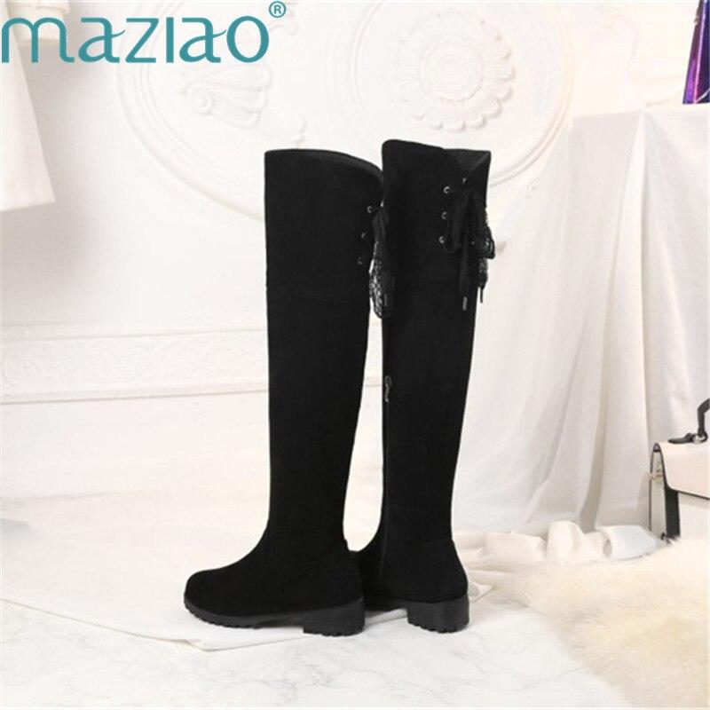 Rodilla 2018 Encima Corto Estilo Tacón Botas Gamuza Por Romano La Bajo Clásicos Beige Mujeres Zapatos Maziao negro Sexy De CZ6Axqq
