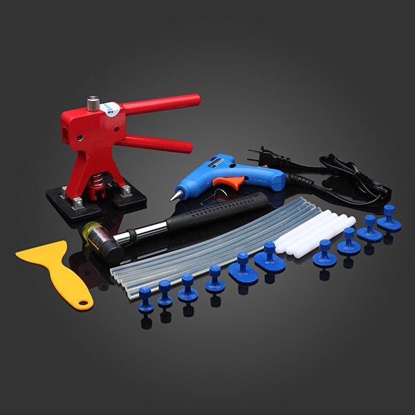 Outil de réparation de Dent sans peinture 24 pièces/ensemble enlèvement de grêle outil de levage de Dent ensemble d'outils professionnels de haute qualité