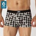 U-Convexo Boxer Shorts dos homens Cuecas Sensuais Dos Homens Dot Impresso Homem Underpantys Deslizamento Underwear Masculino Confortável Boxers Cueca