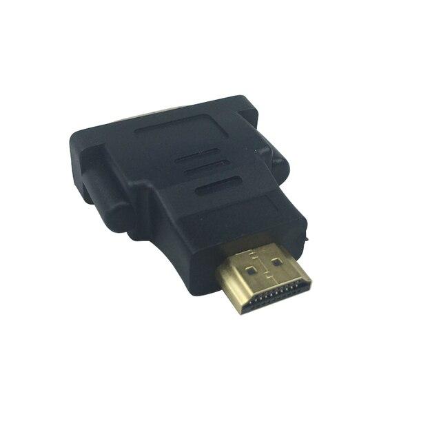 SHCHV HDMI ke DVI Adapter Konektor HDMI Pria Wanita Adapter dvi LCD HDTV DVD XBOX PS3