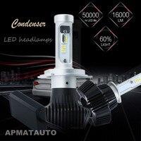 2X LED Car Headlight H4 Hi Lo Beam Auto Led Headlight Bulb 160W 16000lm 6000K White
