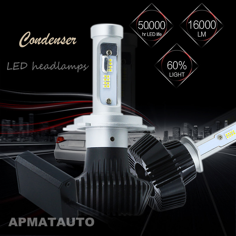 2X LED Car Headlight H4 Hi-Lo Beam Auto Led Headlight Bulb 160W 16000lm 6000K White Headlamp For Toyota Honda Nissan BMW Mazda