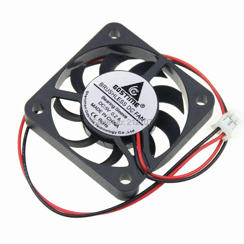2pcs 12V 0.12A 4cm 40mm 40x40x7mm 2pin Brushless PC CPU Cooling Cooler Fan New