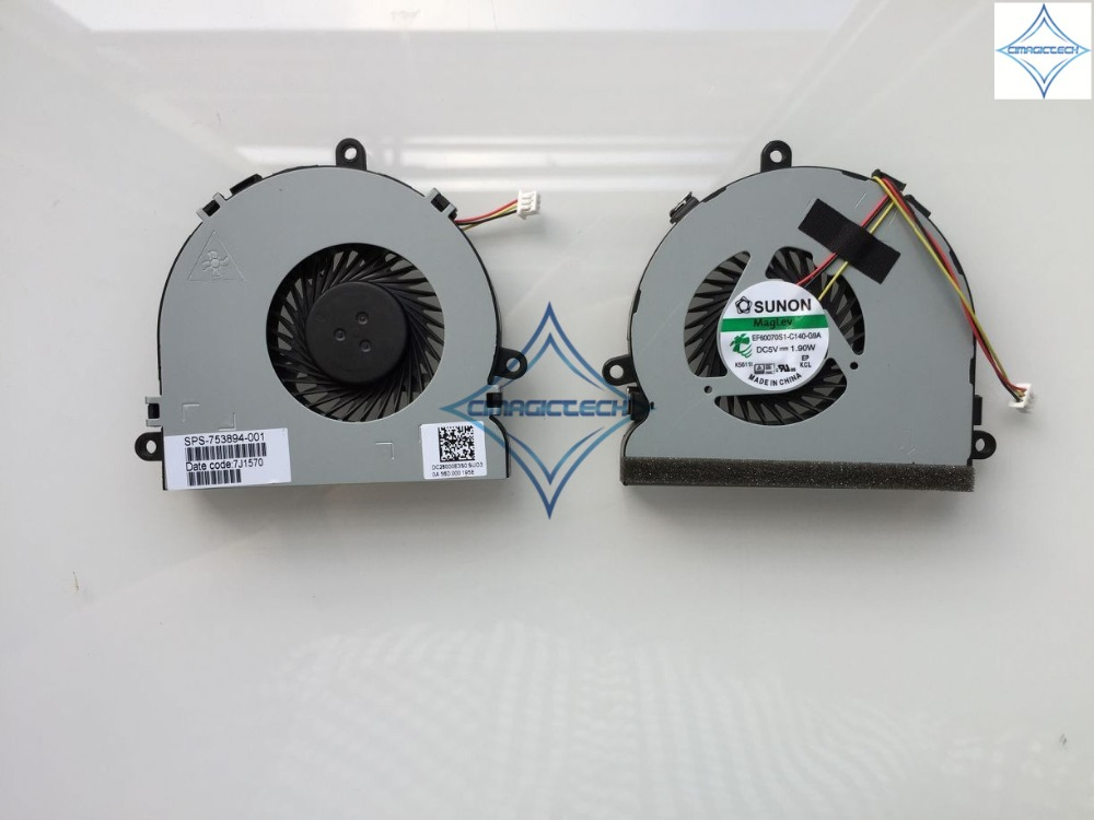 original new for Dell Inspiron 15R 3521 3721 5521 5535 5721 ES60070S1-C140-G9A laptop cpu cooling fan SPS-753894-001