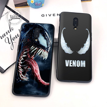 Coque For Case Oneplus 6T Spiderman Venom Black TPU Cases for 7 One plus Cover Funda