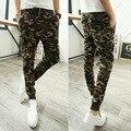 Militar Impressão Calças Hip Hop Suor Calças Dos Homens Homem Calças Harem Dança Baggy Trousers calças Basculador Corredores