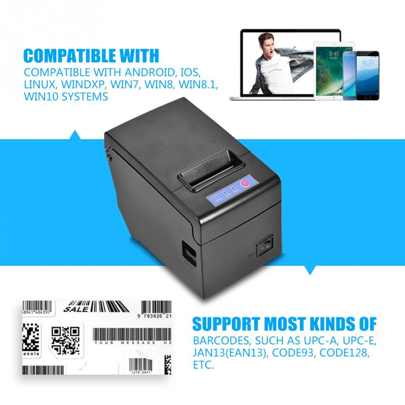 58MM USB Wired Thermal Cash Receipt Printer Printing for iOS Android Windows Linux