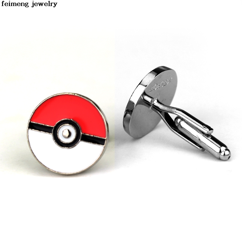 Pokemon Go Alloy Cufflinks Shirt Cufflink High Quality Gift For Man Woman Fans Game Jewelry Cuff Links Wholesale Free Shipping